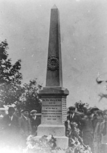 Evenwood War Memorial possibly Unveiling Day