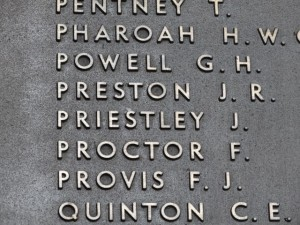 PRIESTLEY J.  Inscription Australian  War Memorial Canberra
