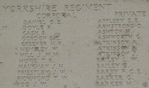ATKINSON F. Inscription Tyne Cot Memorial