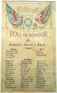 COCKFIELD COUNCIL SCHOOL  ROLL OF HONOUR