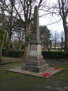 Evenwood War Memorial in Evenwood Cemetery