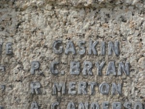 GASKIN F. Inscription Yorkshire Regiment Memorial