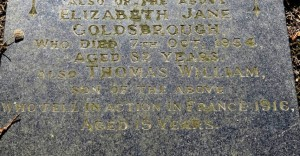 GOLDSBROUGH TW Family Headstone