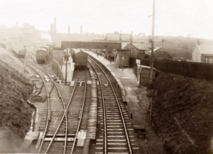 Cockfield Fell station with New Copley coke works in the bacground
