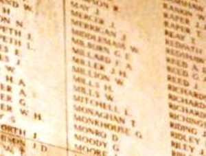Million W.  Inscription Menin Gate Memorial Ypres