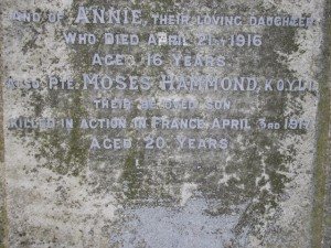 HAMMOND FAMILY HEADSTONE