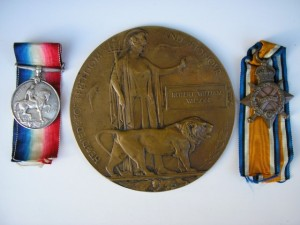 WILSON R.W. The Victory Medal is missing