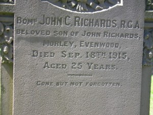 RICHARDS J.C.  Headstone