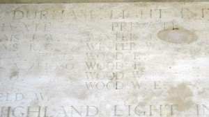 WOOD E Inscription Pozieres Memorial