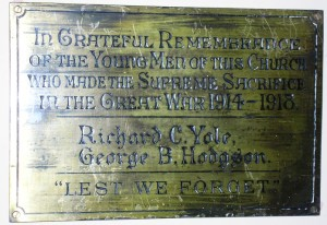 Southside Primitive Methodist Chapel Memorial Plaque