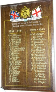 St. Cuthbert's Church Roll of Honour
