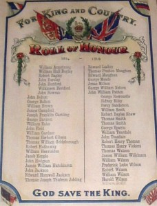 Roll of Honour West Auckland  Memorial Hall