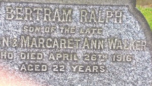 WALKER BR  Headstone Detail
