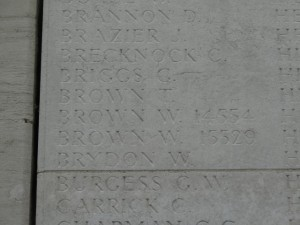 BROWN W. Loos Inscription