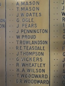 Boer War Commemoration Names