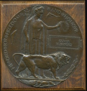 RUSHFORD O. Commemorative Plaque