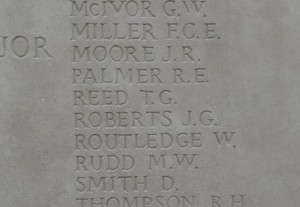 REED T.G. Inscription Tyne Cot Memorial