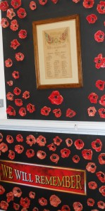 Cockfield Primary School Poppy Display