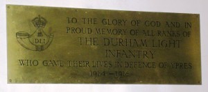DLI Memorial Plaque English Church Ypres