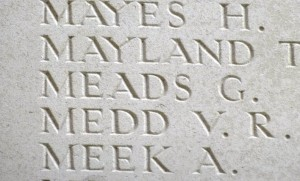 MEADS G. Inscription Thiepval