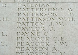 Patton J.W. Inscription Thiepval