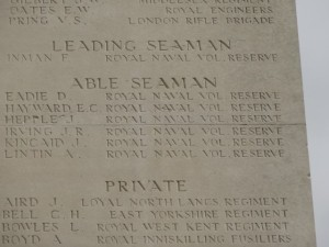 HEPPLE J.  Inscription Thiepval Memorial