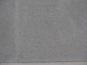 FIELD J.R. Inscription