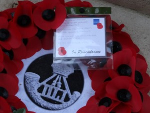 PATTON J.W.  Wreath at Thiepval