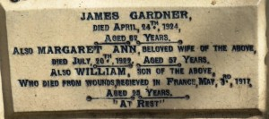 GARDNER William Family Headstone