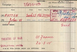 Patton J.W. Medal Roll