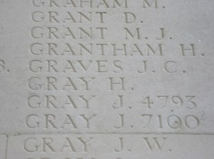 GRAVES J.C. Inscription