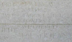 TOWERS E.  Inscription Loos Memorial