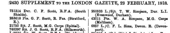 SIMPSON TW London Gazette