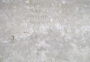 WALTON J.J.  Inscription Tyne Cot Memorial