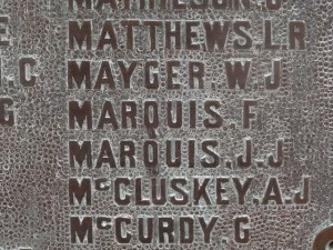KATANNING WAR MEMORIAL Marquis Brothers
