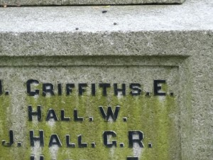 Eldon War Memorial Griffiths E.