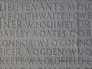 OATES A. Inscription Vimy Memorial