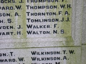 WALKER F. Eldon War Memorial