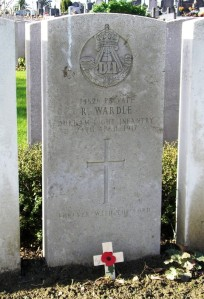WARDLE R.  Headstone