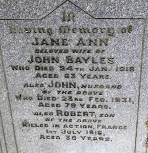 BAYLES Robert Family Headstone