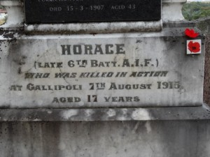Family Headstone Horace [Lennox]