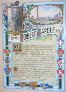 H. Wardle Illuminated Scroll