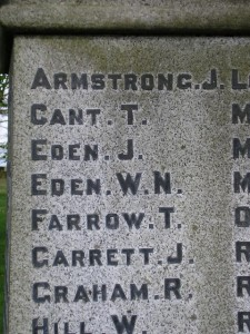 Kirk Merrington War Memorial Detail