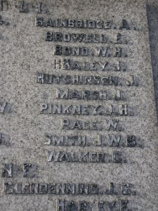 Stanley [Mount Pleasant] War Memorial Detail